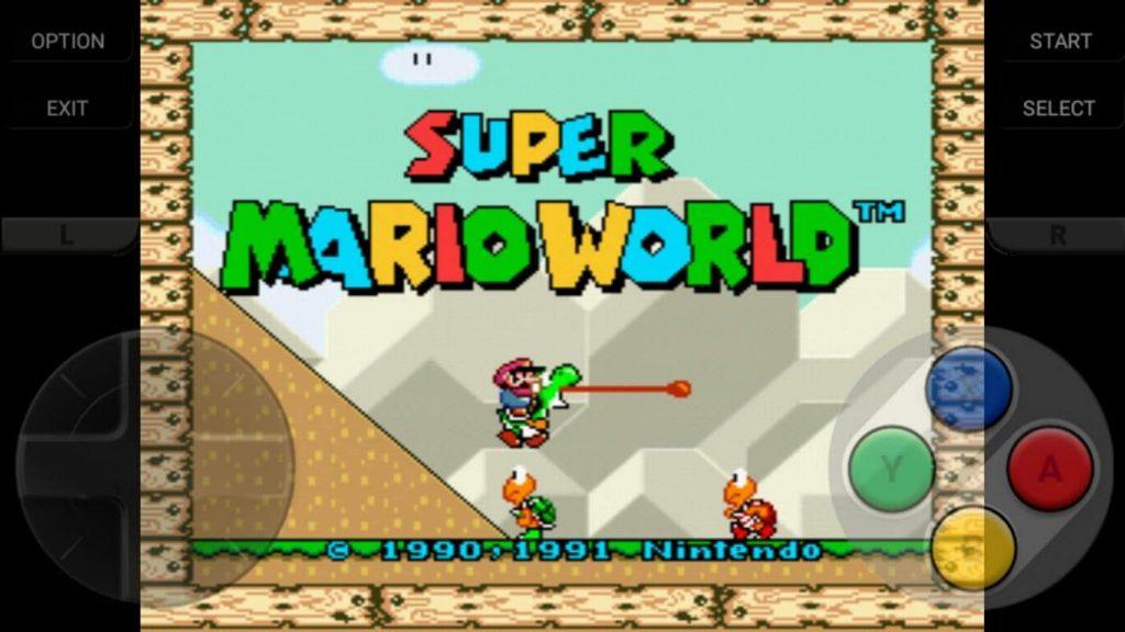Super Mario World en Snes9x EX+