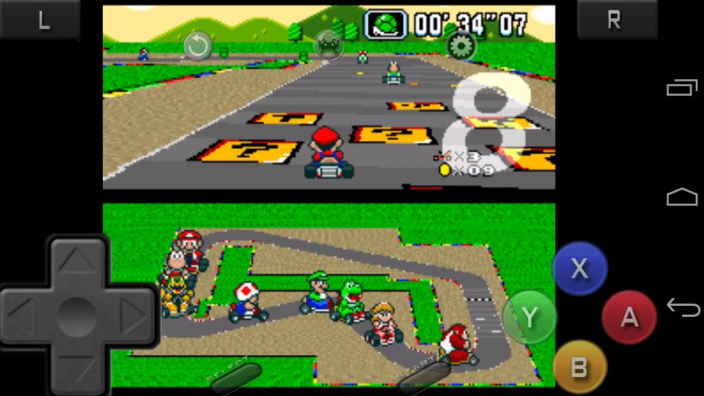 Super Mario Kart en RetroArch