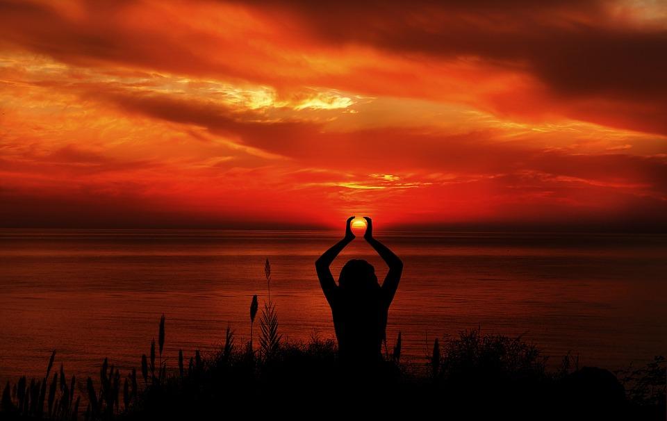 imagen postura meditación