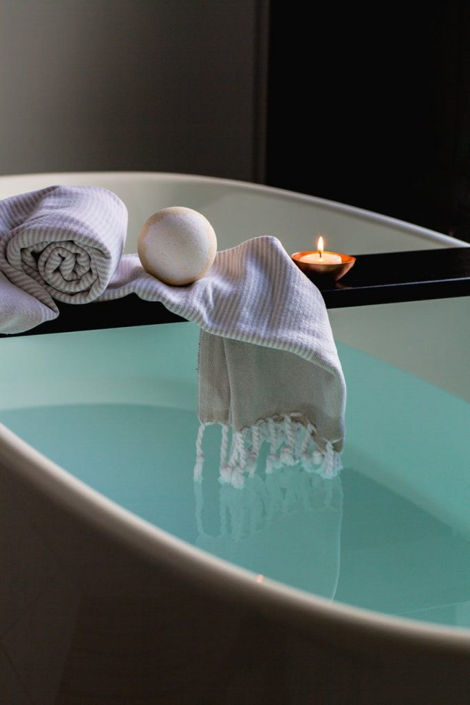 Baño caliente relajante