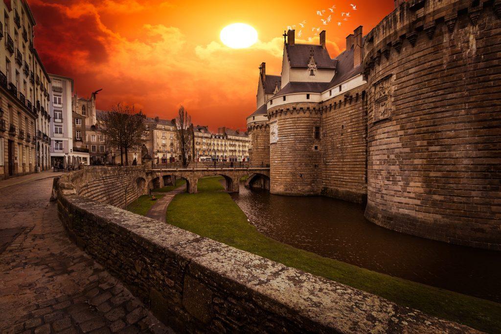 Castillo Nantes. Países del Loira